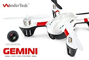 WonderTech Gemini Drone with Camera HD 1MP and Easy to Fly Technology - Perfect for Beginners & Advanced Operators - W200C by WonderTech