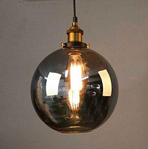 Cozyle Industrieller Vintage Style Edison-Anhänger-hängendes Licht Glas Rauch-Kugel (1-licht-kugel-anhänger)