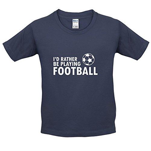 Ich Würde Lieber Fussball Spielen - Kinder T-Shirt - Navy - XL (12-14 Jahre) (Spiele Ich Fußball T-shirt)