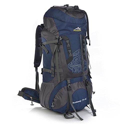 Outdoor Bergsteigen Tasche 75L Wasserdicht Groß Kapazität Reisen Wandern Tasche Bronze
