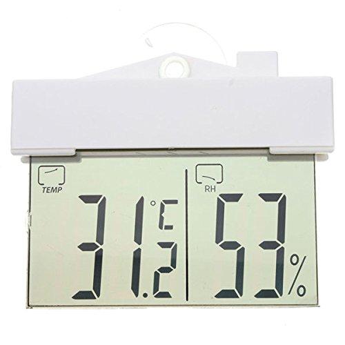OUNONA Digitales Thermo-Hygrometer Mit Saugnapf,Perfekt Wetterstation,weiß