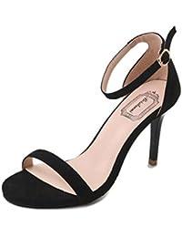 a8b44b4c15058 LUCKYCAT Prime Day Amazon, Sandales d été Femme Chaussures de Été Sandales  à Talons Chaussures Plates Cheville Commune…
