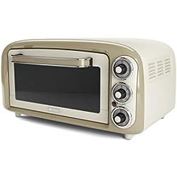 Ariete 979 Vintage - Forno Elettrico di Design 18 Litri, Idoneo per pizza da 30 cm, 1380W, 3 posizioni di cottura, Timer 60', Acciaio Inossidabile, Beige Pastello