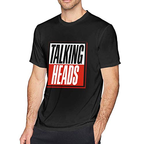 Heyuanqinkeji Mens Talking Heads The Best of Talking Heads Leisure Tees,Black,Medium - Talking Heads Tee