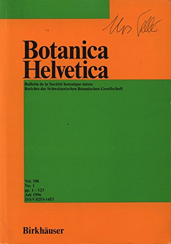 flora helvetica Beiträge zur Flora der Stadt Zürich. III. Dicotyledonen 1 (Salicaceae bis Ranunculaceae), in: BOTANICA HELVETICA, Juli 1996.