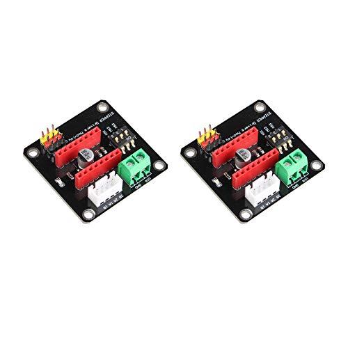 2 Stück 3D-Drucker A4988 DRV8825 42 Schrittmotor Treiber Control Expansion Board Shield Module DRV8825 / A4988 für Arduino UNO R3 DIY Kit
