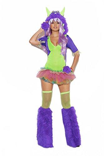 Elegant Moments Damen Monster-Monster, 1 äugig - Grün - (Frederick Hollywood Kostüm)