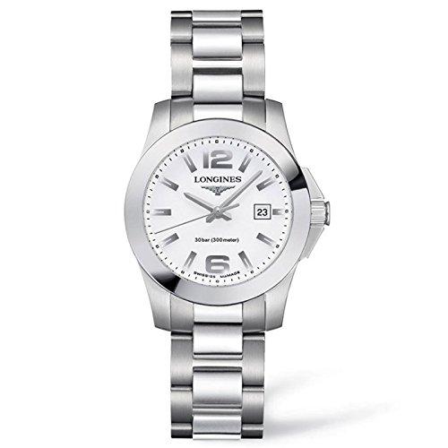 Longines Reloj Análogo clásico para Mujer de Cuarzo con Correa en Acero Inoxidable L32774166