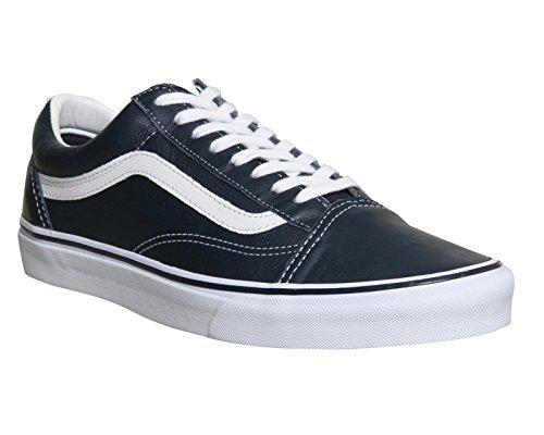 Vans Old Skool Scarpe Da Ginnastica Basse, Unisex Adulto Dress Blue Leather St