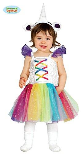 Einhorn Babykostüm für Kinder Kleid Einhornkostüm, Größe:86/92