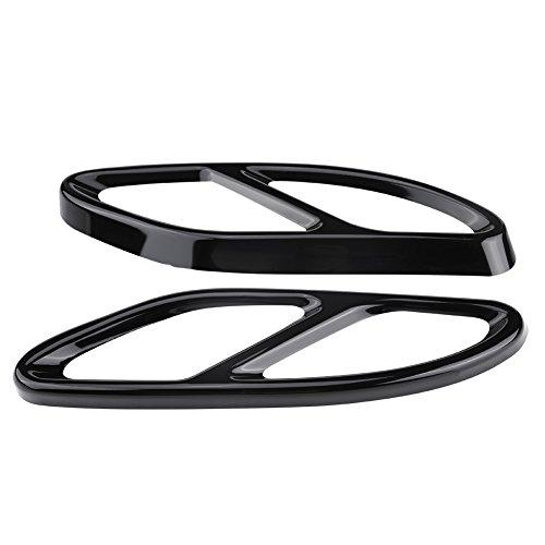 Keenso 1 Paar Auto Auspuff Endschalldämpfer Tipp Rohrabdeckung Dekor(Schwarz)