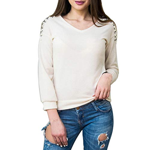 Clearance Sale [S-2XL] ODRDღ Damen T-Shirt Frauen Langarmshirts Tops Mode Lose Beiläufig Bluse...
