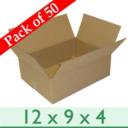W E Roberts (Corrugated) Ltd 50Stück A4Größe entfernen Verpackung Wellpappe-Boxen-Single Wand-30,5x 22,9x 10,2cm/305mm x 229mm x 102mm (Wellpappe-versandboxen)