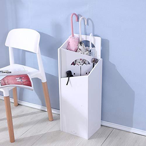 YCHBOS Schirmständer Schirmständer für Privatanwender/wasserdichte Holz-Kunststoffplatte/waschbar/Keine Form/weiß Regenschirmständer (Size : B)
