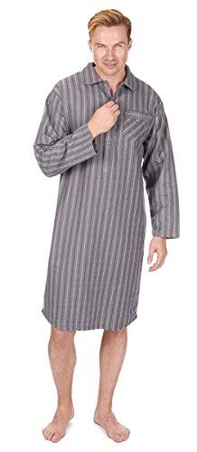 Herren Weicher Baumwolle Flanell kariert oder gestreift Schlafanzug Nachthemd PJ Lounge Top Gr. Medium, schwarze streifen (Top Pj Streifen)