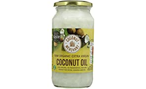 Coconut Merchant Organic Raw Extra Virgin Coconut Oil 1 Litre (Pack of 2)