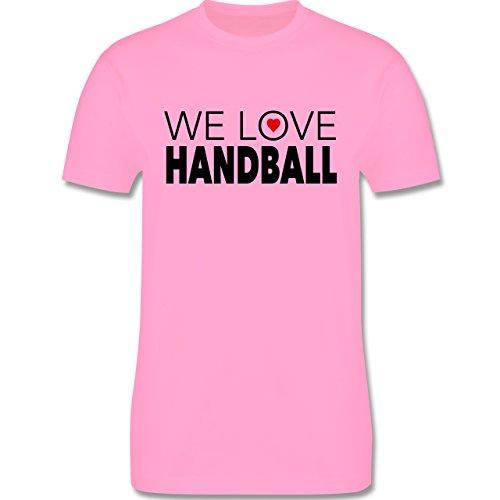 Handball - We Love Handball - Herren Premium T-Shirt Rosa