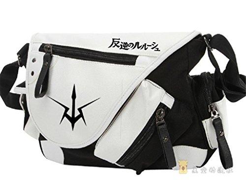 yoyoshome Japanische Anime Cosplay Rucksack Umhängetasche Messenger Bag Umhängetasche schwarz Code Geass