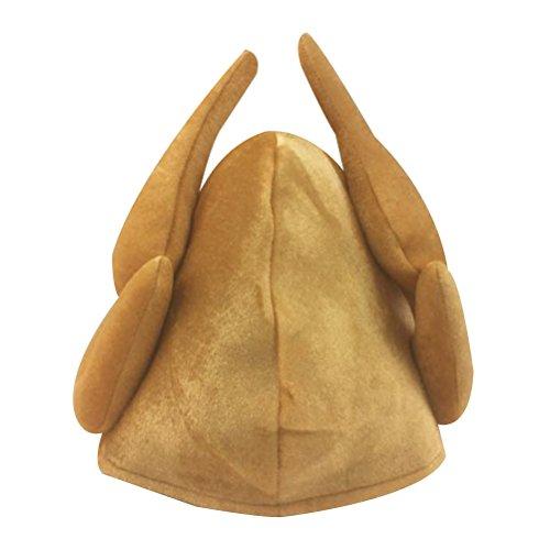 BESTOYARD Geröstete Türkei Cap Hut Neuheiten Türkei Headwear Kopfschmuck für Thanksgiving Day Weihnachten Kostüm Party Zubehör für Erwachsene - Eine Größe