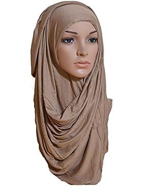 Instant cómodo Hijab de alta calidad, elástico, de algodón