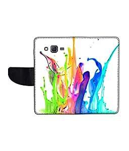 KolorEdge Printed Flip Cover For Samsung Galaxy J5 Multicolor - (1478-50KeMLogo12344SamJ5)