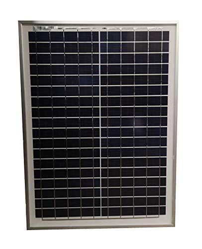 Hi-Tech Solar 20 W Módulo solar PV policristalino Premium Negro Panel c/w Negro Base de la hoja. Módulo solar (20 W) para usar para recargar baterías de 12 V CC. Recomendamos el uso de controlador de carga/regulador para detener el suministro de bate...