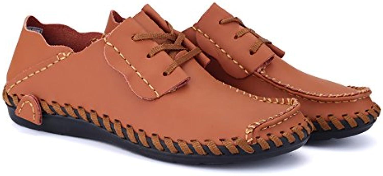 Zapatos Planos de Negocios de Tacón Plano con Cordones para Hombres  -
