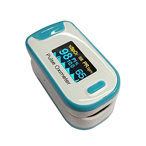 YUEHG Pulsioxímetro para Medir la Saturación de Oxígeno en la Sangre la Frecuencia Cardíaca Oxímetro con Pantalla OLED y Simple Operación de un Solo Toque,Blue