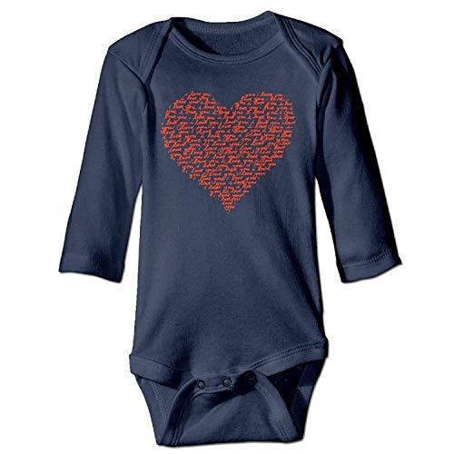 MSGDF Unisex Infant Bodysuits Love You Red Raglan Valentine Day Boys Babysuit Long Sleeve Jumpsuit Sunsuit Outfit Navy Valentine Infant Bodysuit