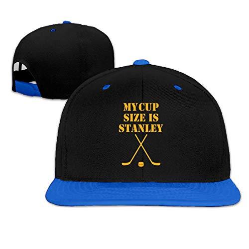 My Cup Size is Stanley Hip Hop Snapback Baseball Hat Adjustable Men Blue -