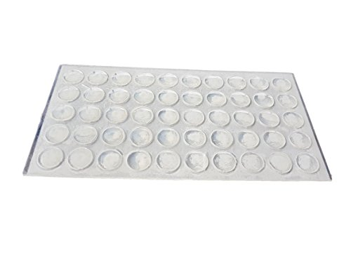 (200PCS) D 10mm Silikon mit Absorber Soft Close 1,6mm Höhe Stück Filz Möbel und Sound Schutz Pads mit Kleber (Pacific Bögen)