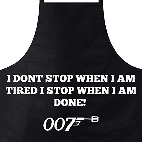 Elani Grillschürze für Männer [2er Set] E-Book + Grillschürze - Grillschürze - James Bond 007