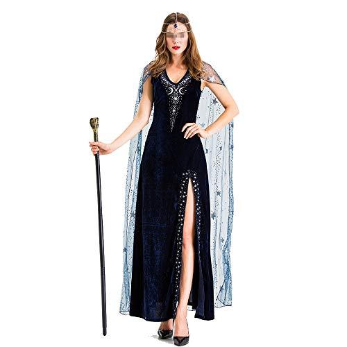 Für Erwachsenen Schwarzen Pharao Kostüm - BESTSOON-TGA Halloween-Kostüm für Erwachsene, Cleopatra Pharao,