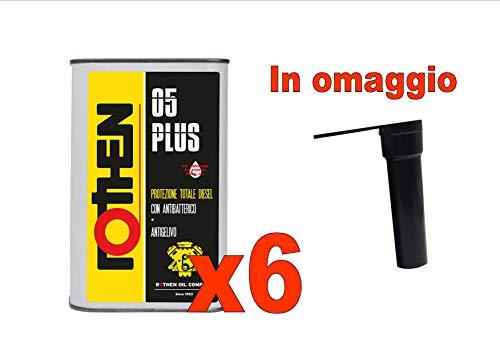 Rothen 05 Plus Protezione Totale Diesel con Antibatterico e ANTIGELO Litri 1 N. 6 FLACONI
