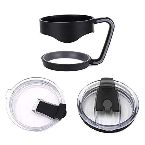 1 STÜCKE Griff + 1 STÜCKE Strohdeckel + 1 STÜCKE Lecköl Spritzwassergeschützter Deckel Kompatibel mit Yeti 30 Unzen Becher Tassen Zubehör Ersatzteile