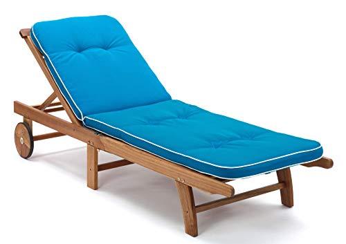 2 Liegenauflagen Tomiro 50077-131 in türkis blau 189 x 60 x 6 cm (ohne Holzliege!)