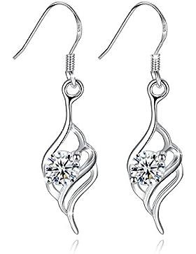 Fashmond Damen Ohrringe hängend Ohrhänger aus 925 Sterling Silber & Kristall - Schmuck Geschenke für Frauen Freundin...