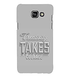 HiFi Designer Phone Back Case Cover Samsung On7 (2016) New Edition For 2017 :: Samsung Galaxy On 5 (2017) ( Quotes on Creativity Takes Courage )