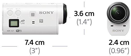 Sony HDR-AZ1V Action Camera con Custodia Impermeabile, Sensore CMOS Exmor R da 11,9 Megapixel, Obiettivo Zeiss Tessar, Wi-Fi, NFC, Bianco