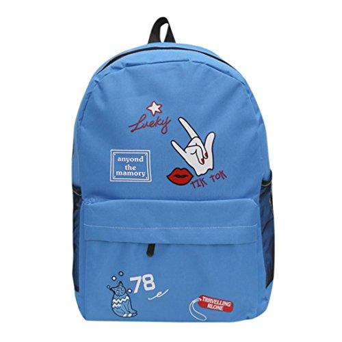 Tasche, feiXIANG Schulter Bookbags Schule Reise Rucksack Sky Blau