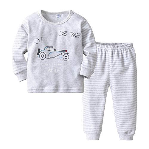 Fengbingl vestiti per la casa per bambini completo in cotone car stampa pigiama ragazzo e ragazza in due pezzi (dimensione : 90cm)