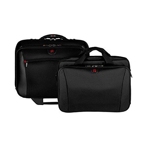 Wenger 600661 POTOMAC 17-Zoll-Rad-Laptop-Tasche, gepolsterte Laptopfach mit Übernachtung Fach schwarz {23 Liter}