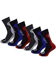 6 Paar Herren Thermosocken Vollfrottee im sportlichen Design super weich und warm Wintersocken Thermo Socken Thermostrümpfe