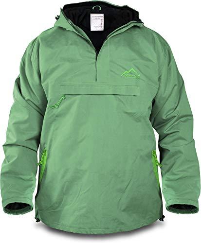 normani Winddichte Funktions-Jacke für Damen und Herren von S-4XL Farbe Grün/Hellgrün Größe M