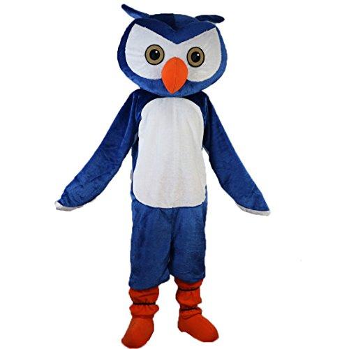 Maskottchen Kostüm Eule - Langteng blau Eule Cartoon Maskottchen Kostüm Echt Bild 15-20Tage Marke