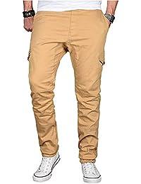 d31d2940d848e Cebbay Jean Homme Slim - - Mode - Couleur Pure - Cordon de Serrage - Coton