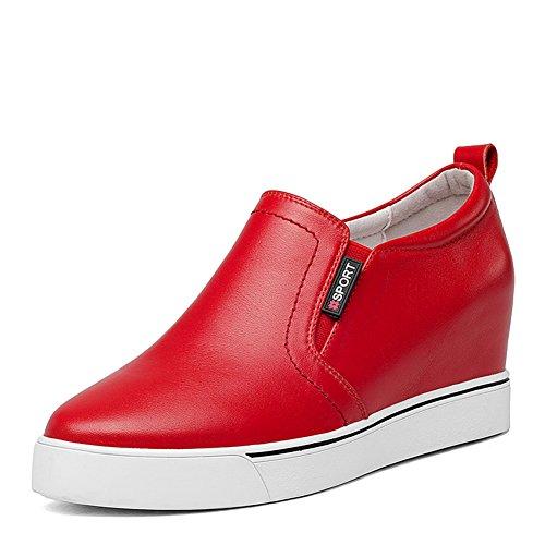 Pointe de haut fond épais de chaussure blanche sauvage/ plateforme cales chaussures B