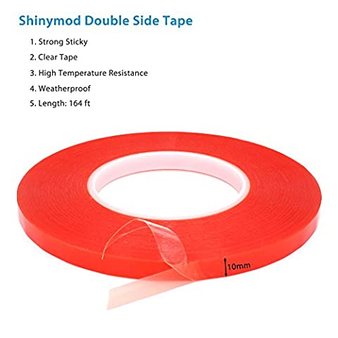 Shinymod PET Acrylic Double Side Adhesive Clear Tape Strength Sticker