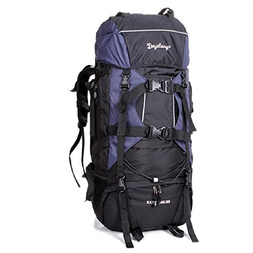 LF&F Backpack 80L Extra GroßE KapazitäT Outdoor Bergsteigen Tasche Fernreisen Camping Klettern Rucksack Wasserdichte Tear Racer Unisex GepäCk Tasche F