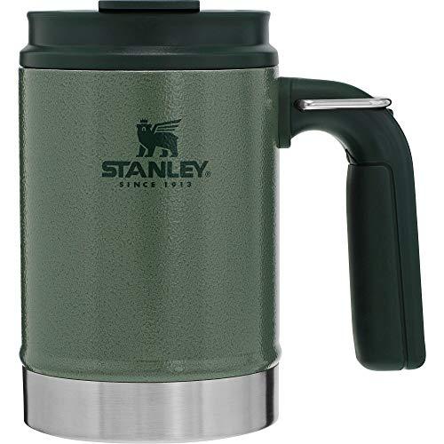 Stanley Legendary Classic Vakuum-Thermoskanne 1.4L, Mattschwarz, 18/8 Edelstahl, Doppelwandige Vakuum-Isolierung, Auslaufsicher, Integrierter Thermobecher, Isolierkanne Trinkflasche